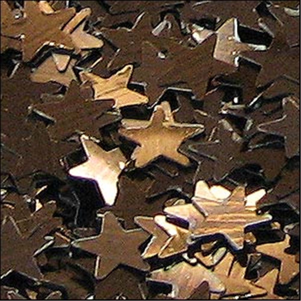 Metallic Chocolate Star Sequins. 6mm