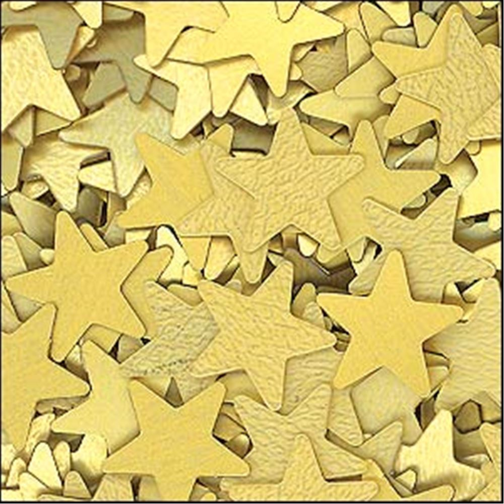 Matte Gold Star Sequins. 6mm