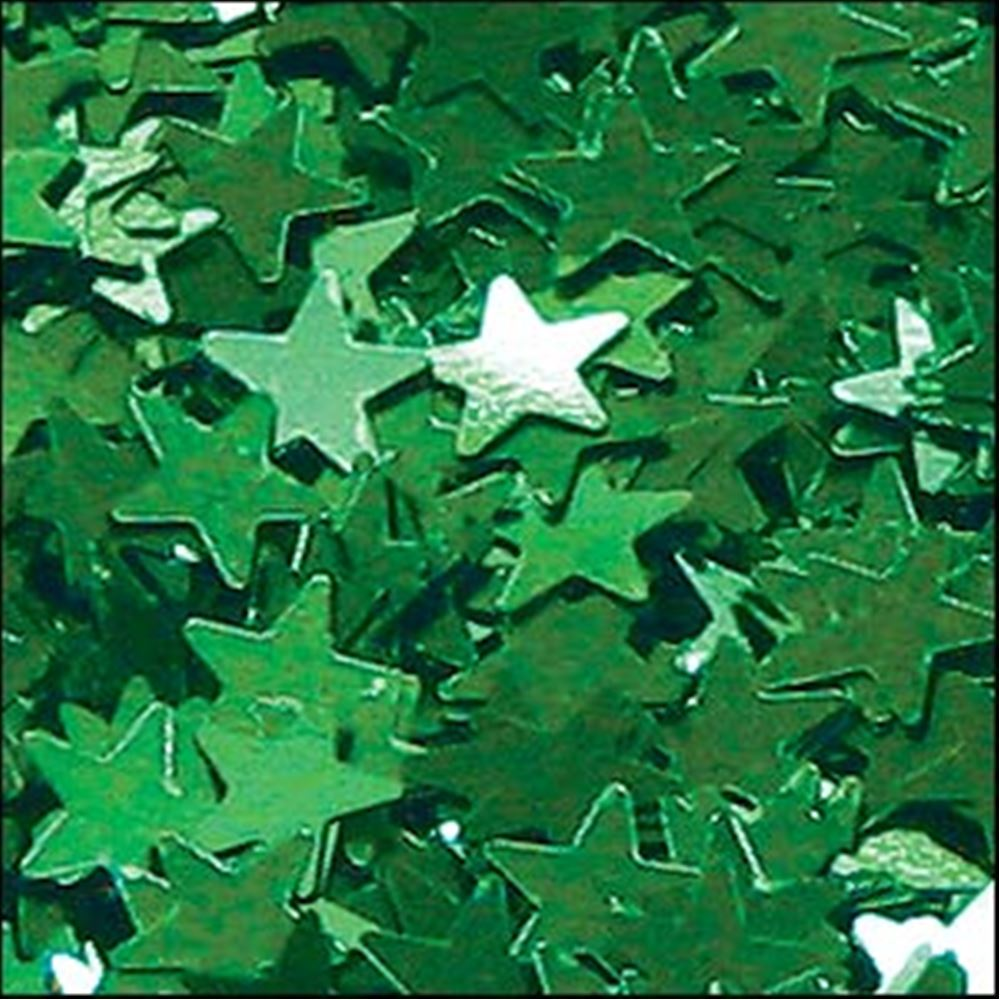 Metallic Emerald Star Sequins. 6mm