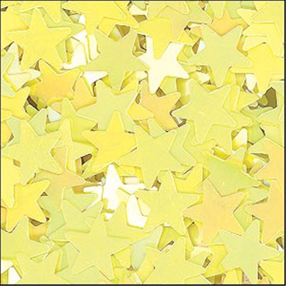 Glossy Lemon Sorbet Star Sequins. 6mm