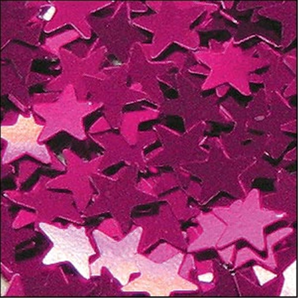 Metallic Fuchsia Star Sequins. 6mm