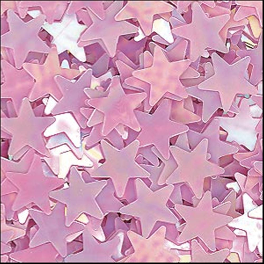 Glossy Lilac Star Sequins. 6mm