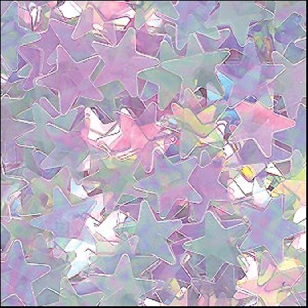 Clear Lilac Star Sequins. 6mm