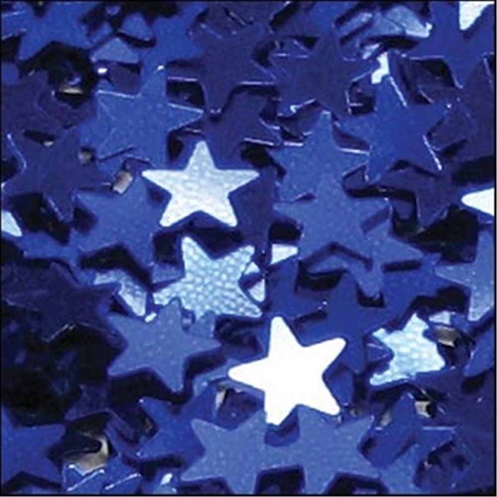 Metallic Royal Blue Star Sequins. 6mm