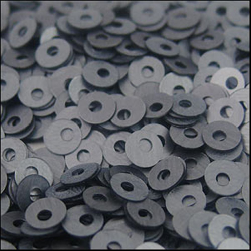 Matt Gunmetal Flat Sequins. 3mm