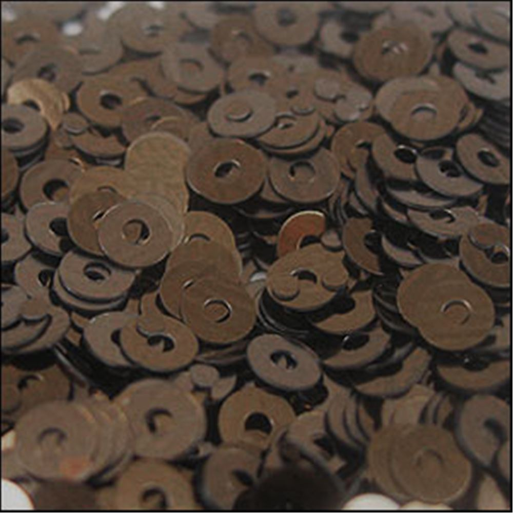 Metallic Chocolate Flat Sequins. 3mm