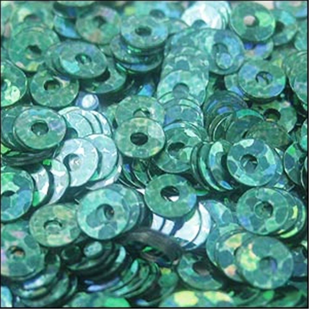 Hologram Amazon Green Flat Sequins. 3mm