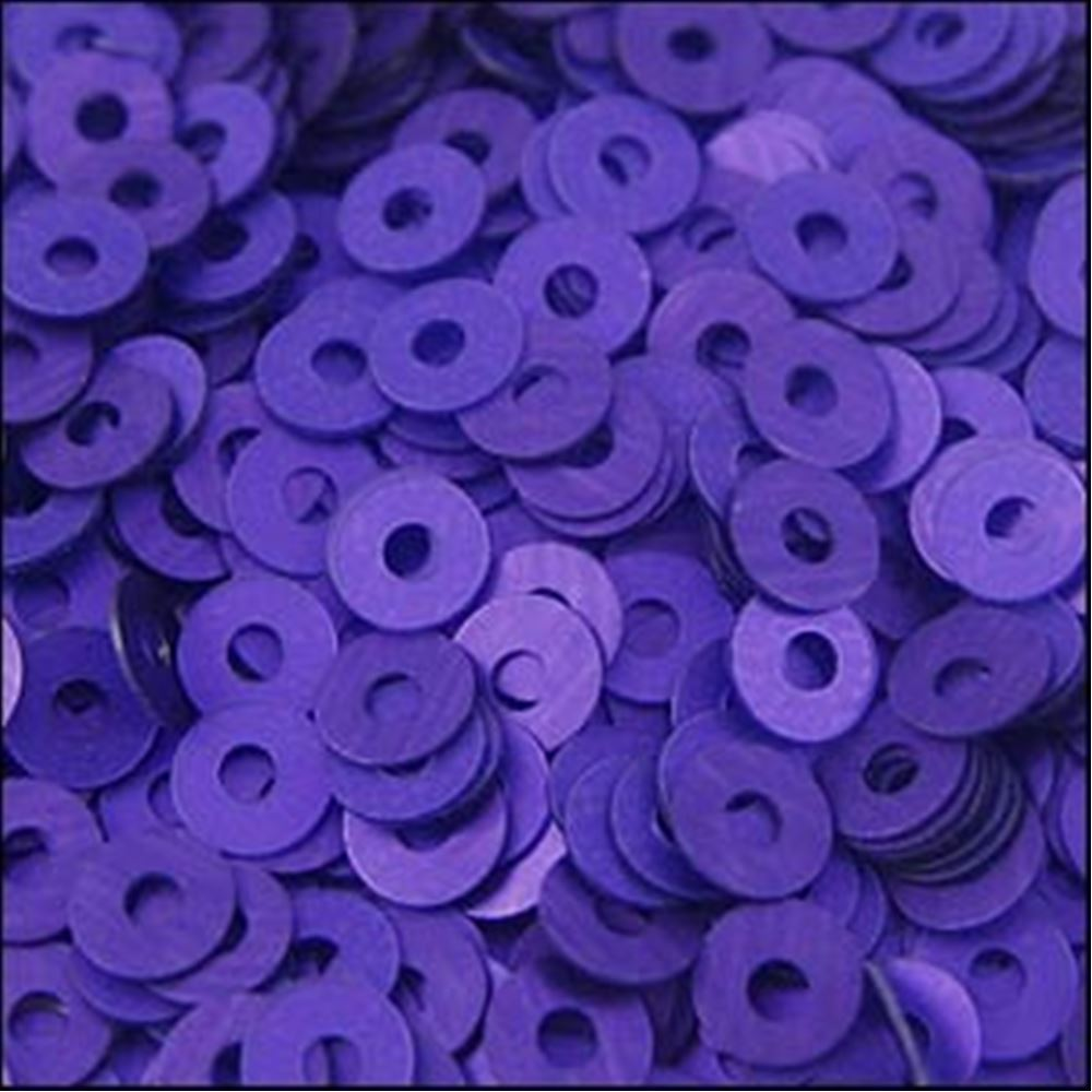 Matte Purple Flat Sequins. 3mm