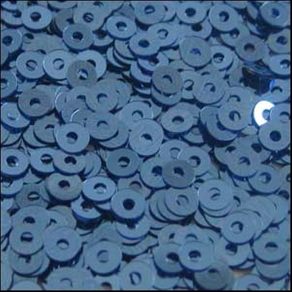 Metallic Slate Blue Flat Sequins. 3mm