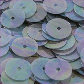 Clear Rainbow Flat Sequins. 8mm
