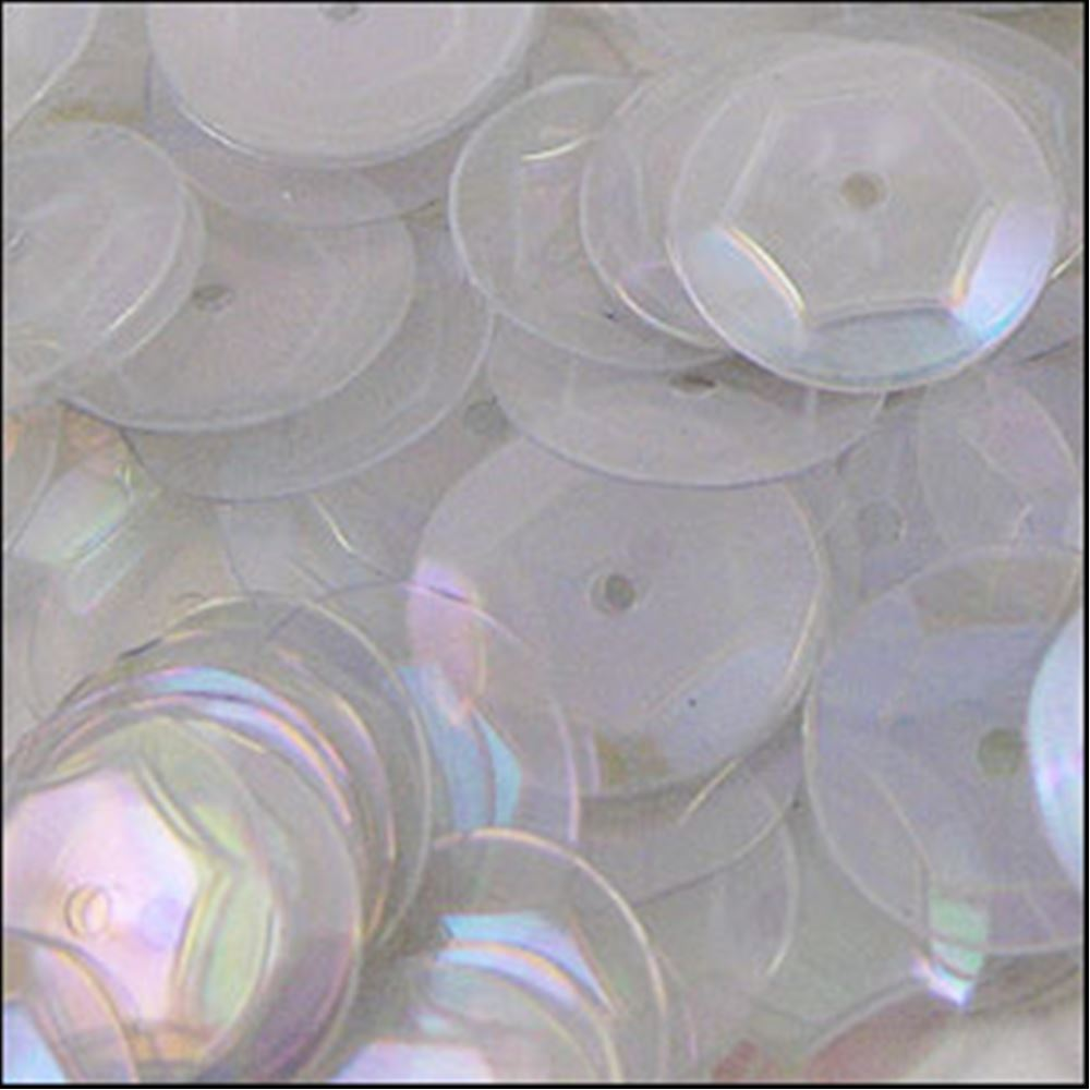 Clear Rainbow Cup Sequins. 8mm