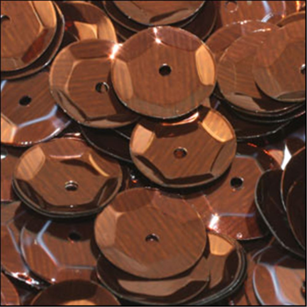 Metallic Bronze Cup Sequins. 8mm