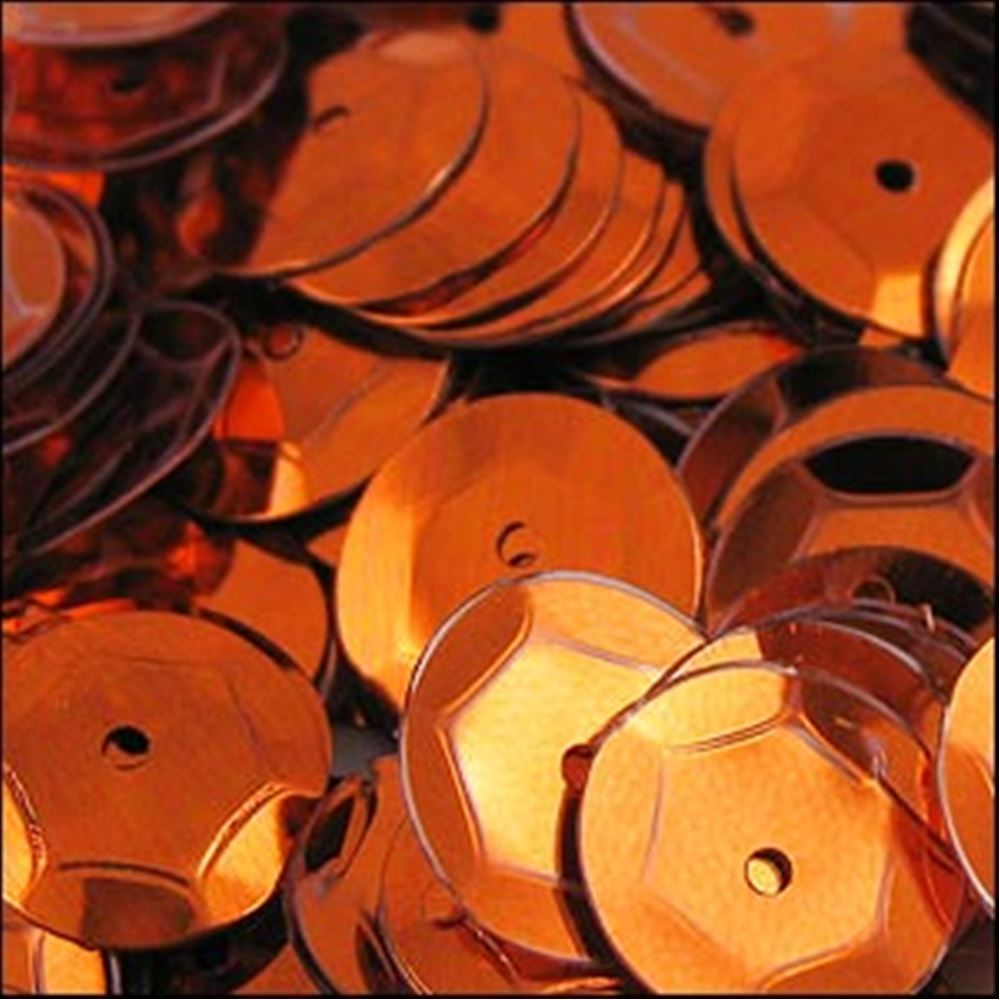 Metallic Orange Cup Sequins. 8mm