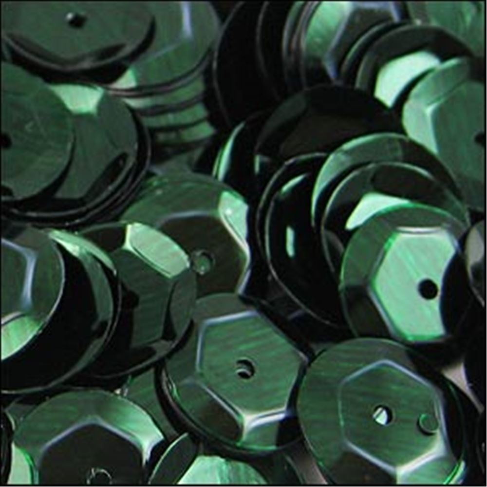 Metallic Forest Green Cup Sequins. 8mm