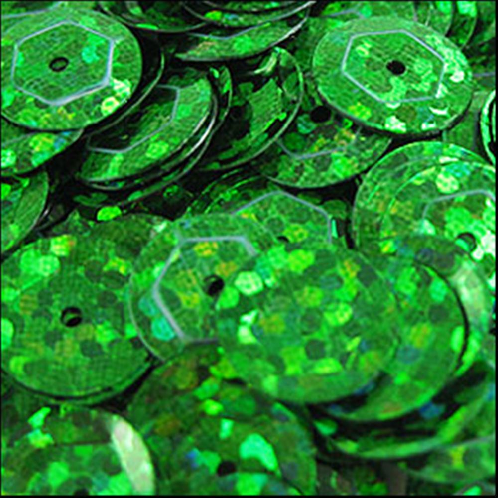 Hologram Emerald Cup Sequins. 8mm