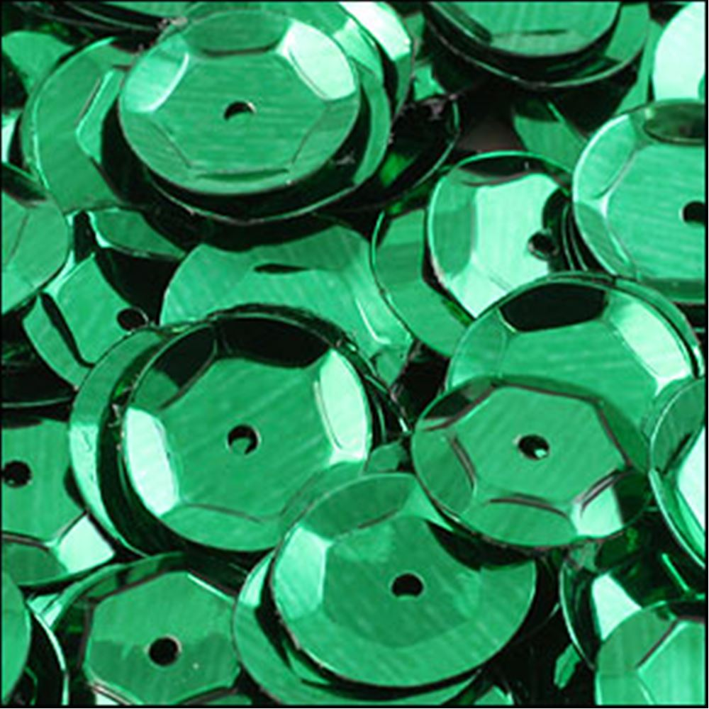 Metallic Emerald Cup Sequins. 8mm