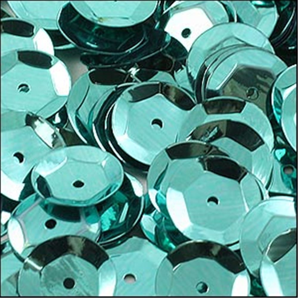 Metallic Green Aqua Cup Sequins. 8mm