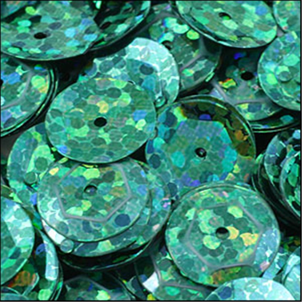 Hologram Amazon Green Cup Sequins. 8mm