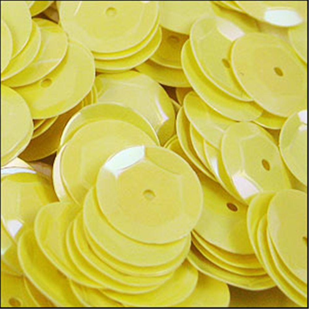 Glossy Lemon Sorbet Cup Sequins. 8mm