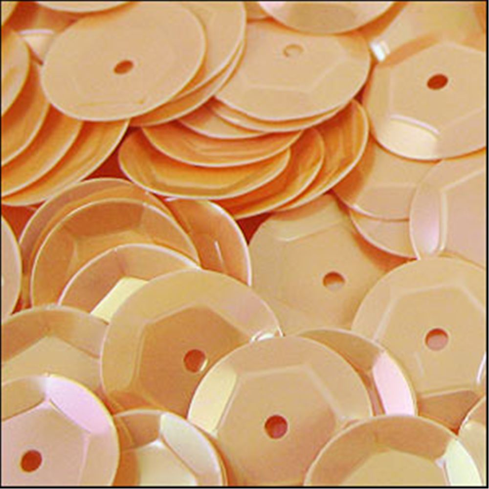 Glossy Peaches & Cream Cup Sequins. 8mm