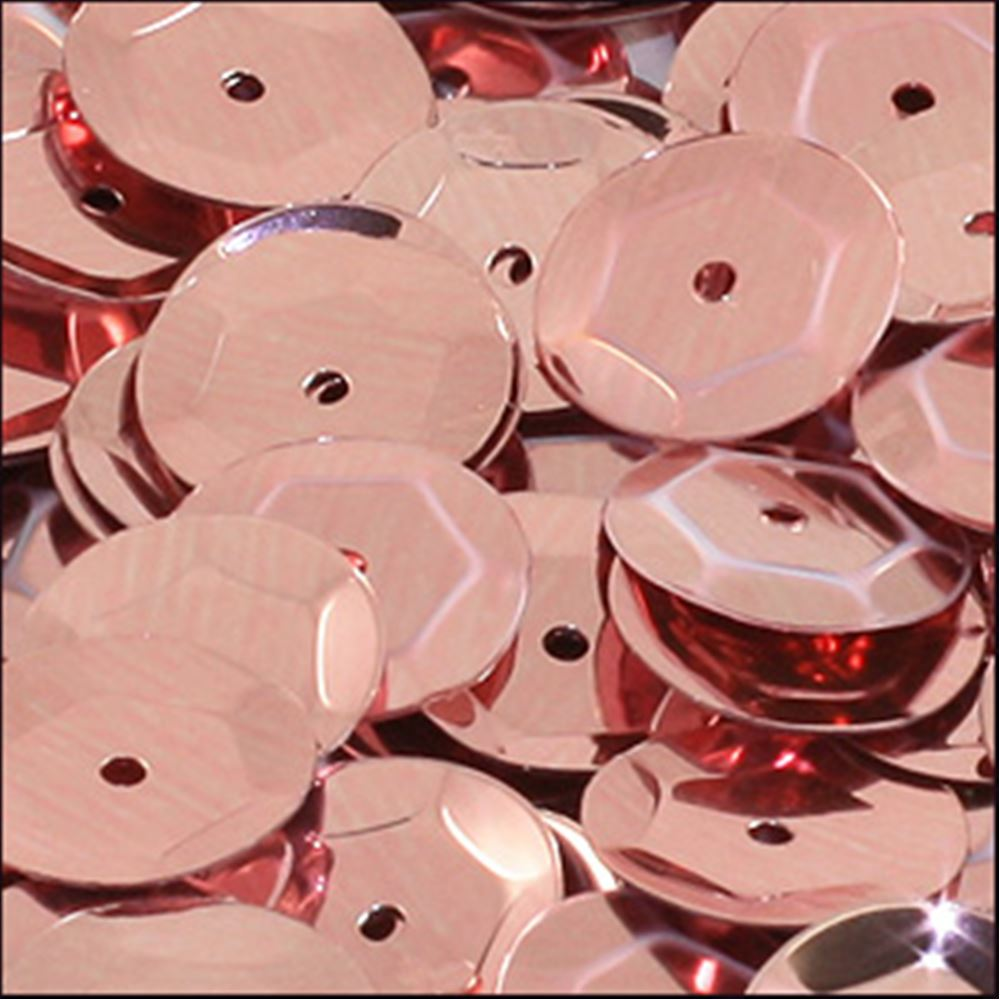 Metallic Dusky Pink Cup Sequins. 8mm