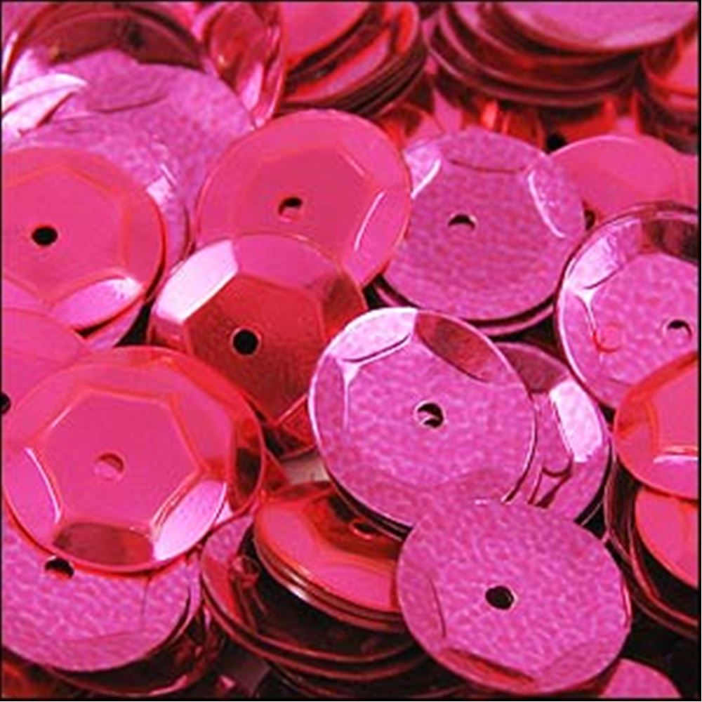 Metallic Shocking Pink Cup Sequins. 8mm