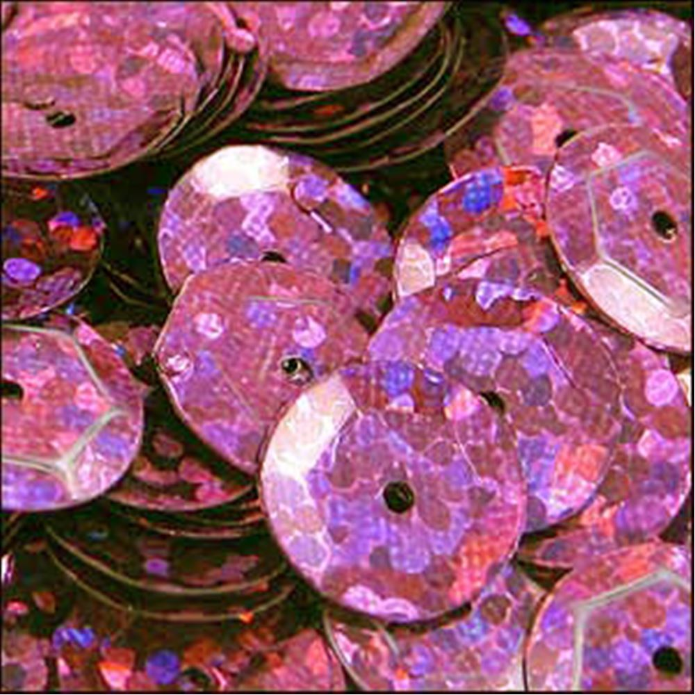 Hologram Pink Cup Sequins. 8mm