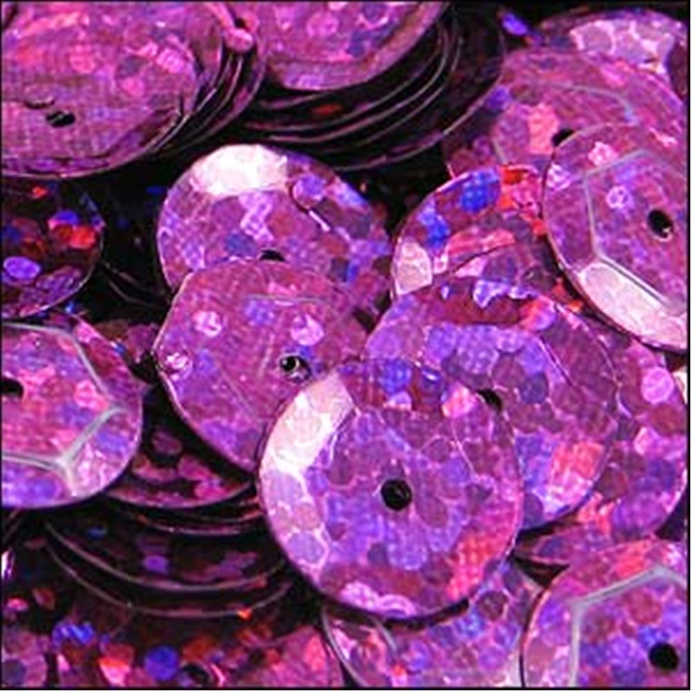 Hologram Fuchsia Cup Sequins. 8mm