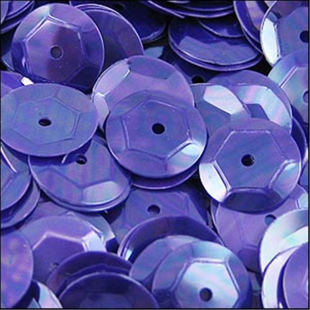 Glossy Amethyst Cup Sequins. 8mm