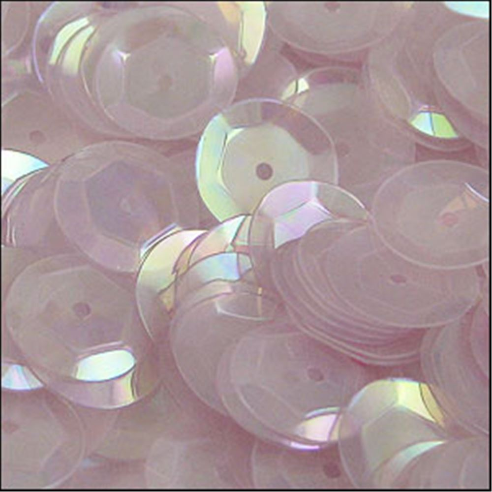 Clear Lilac Cup Sequins. 8mm