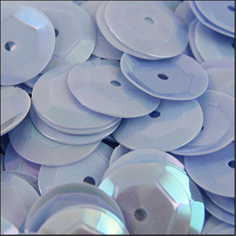 Glossy Sky Blue Cup Sequins. 8mm