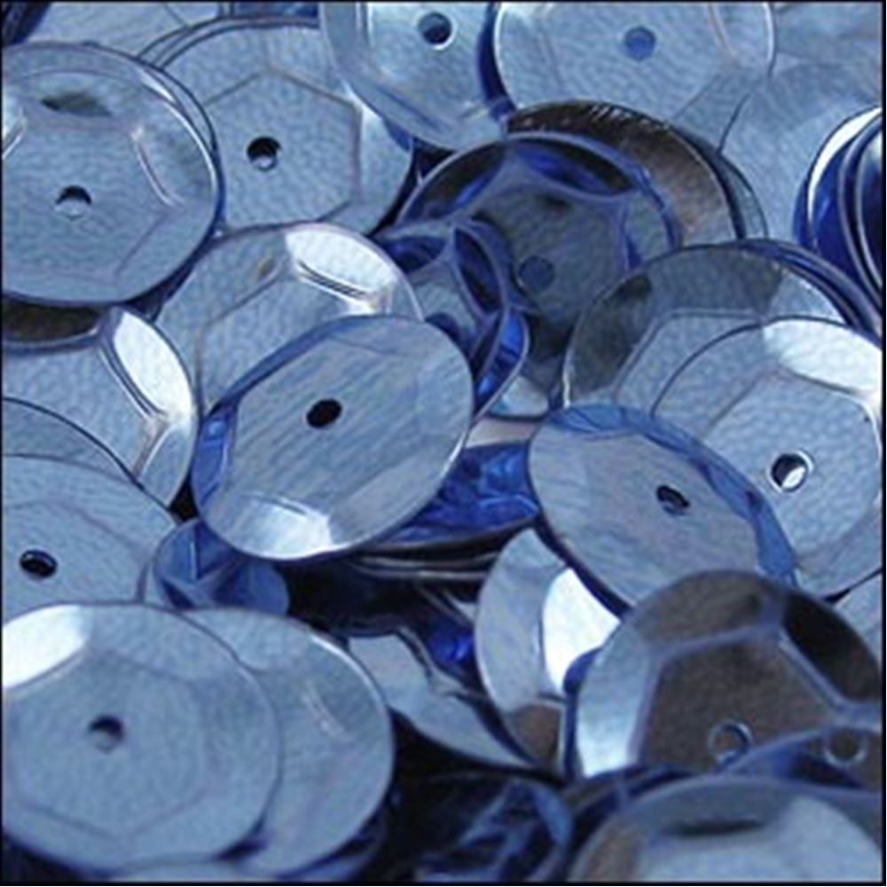 Metallic Slate Blue Cup Sequins. 8mm