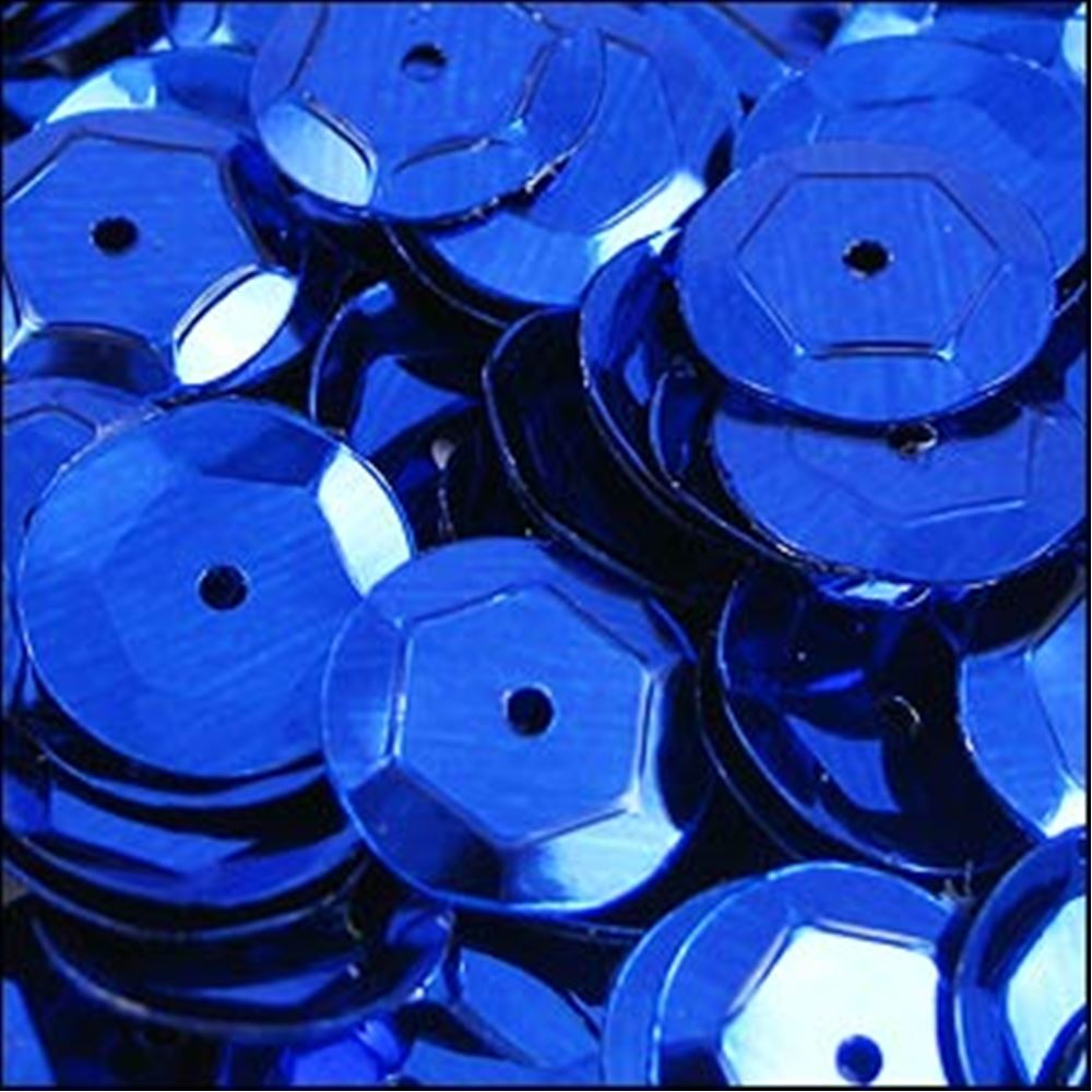 Metallic Royal Blue Cup Sequins. 8mm