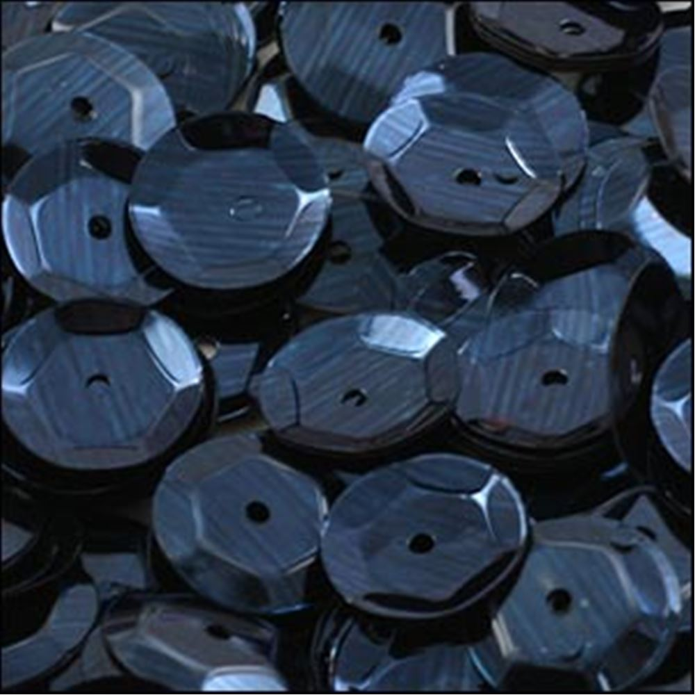 Metallic Navy Blue Cup Sequins. 8mm