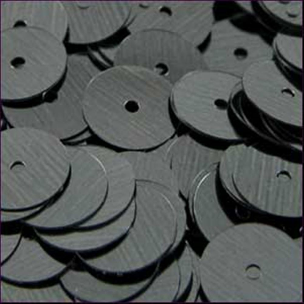 Metallic Gunmetal Flat Sequins. 10mm