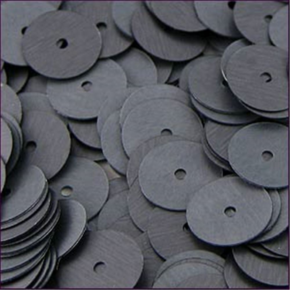 Matte Gunmetal Flat Sequins. 10mm