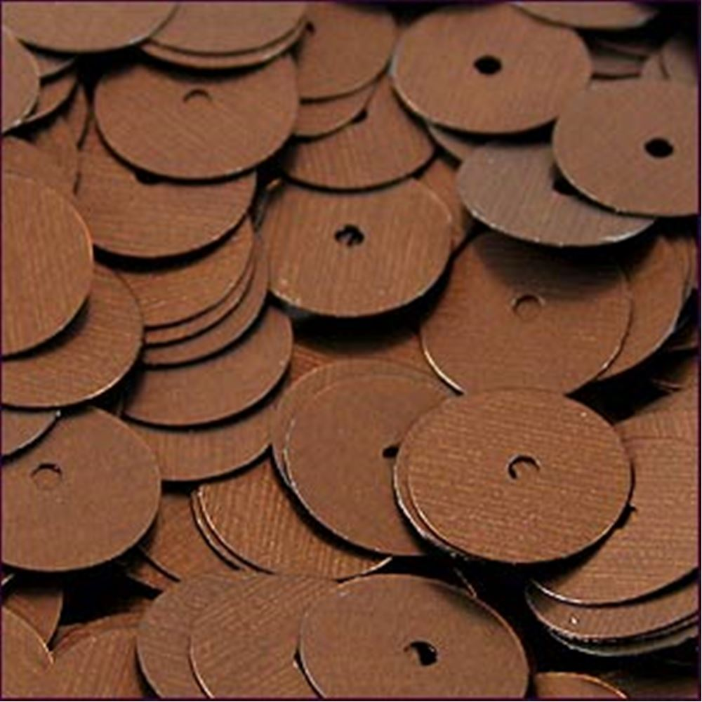 Matte Bronze Flat Sequins. 10mm
