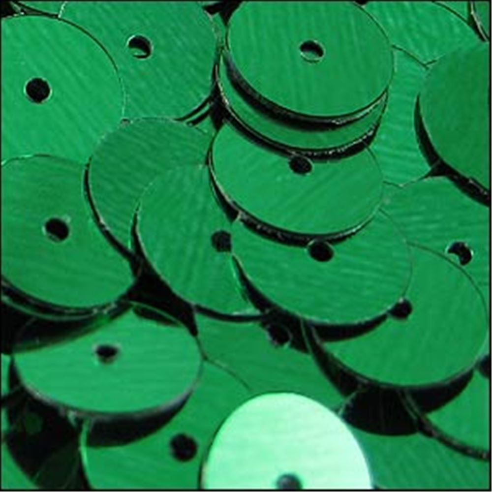 Metallic Emerald Flat Sequins. 10mm