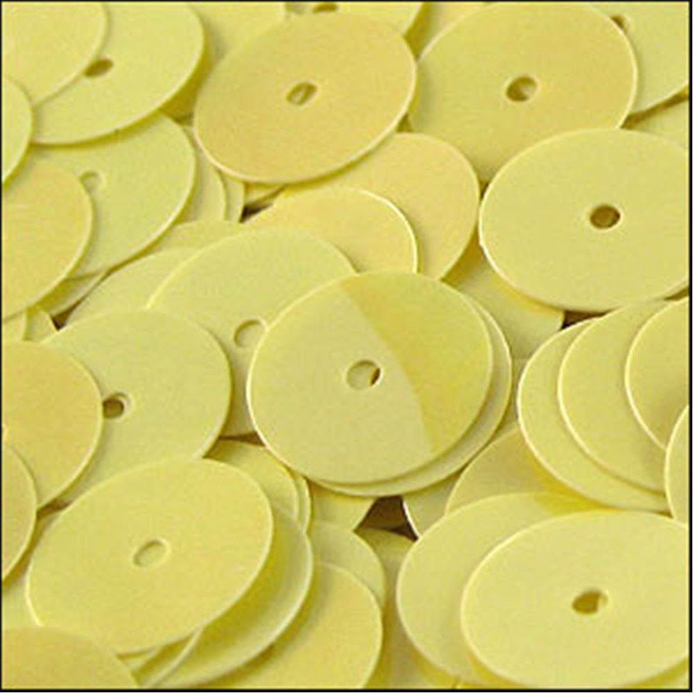 Glossy Lemon Sorbet Flat Sequins. 10mm