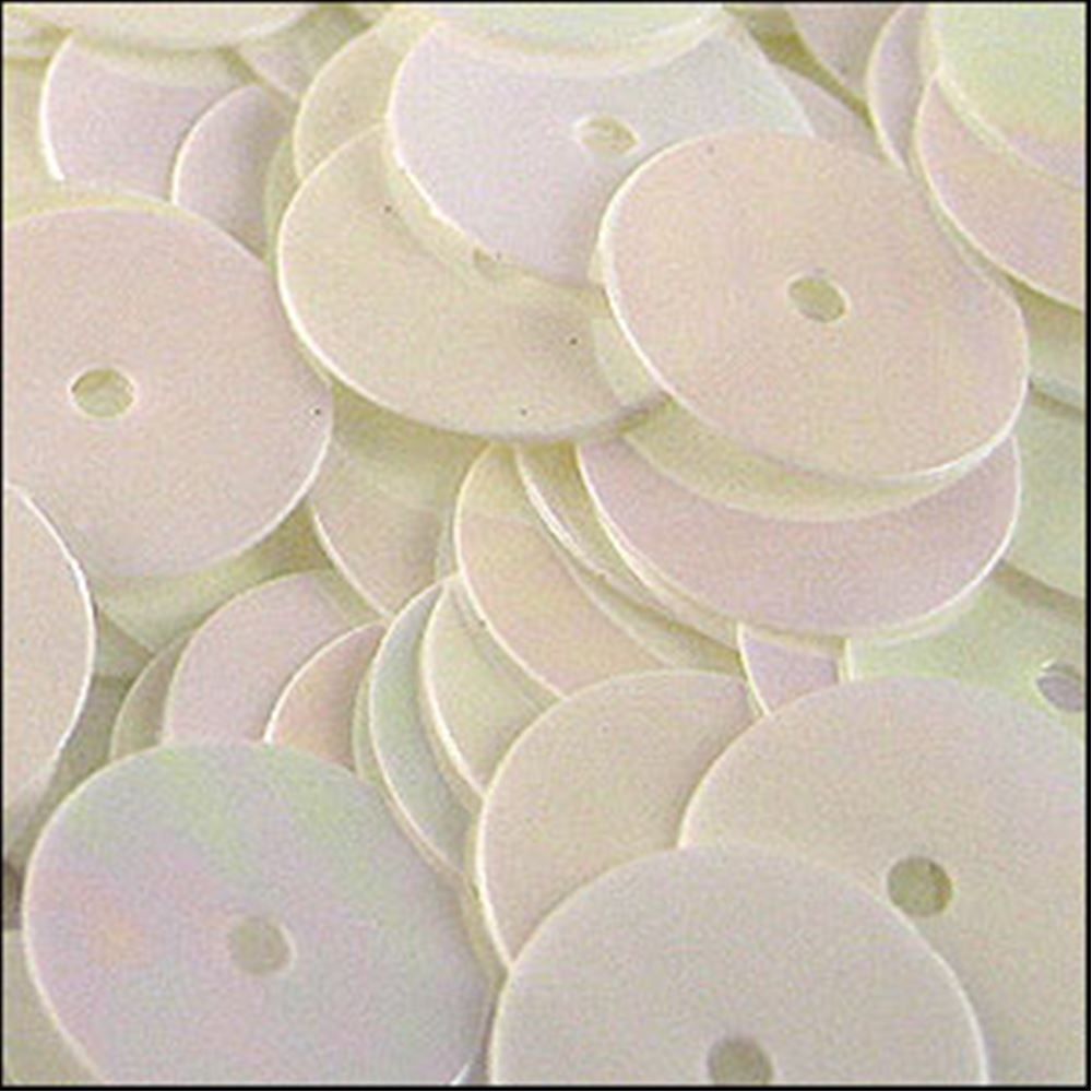 Glossy Vanilla Flat Sequins. 10mm