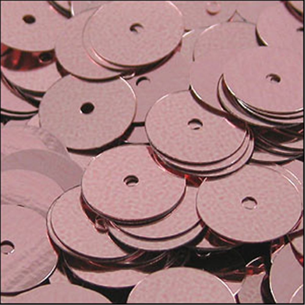 Metallic Dusky Pink Flat Sequins. 10mm