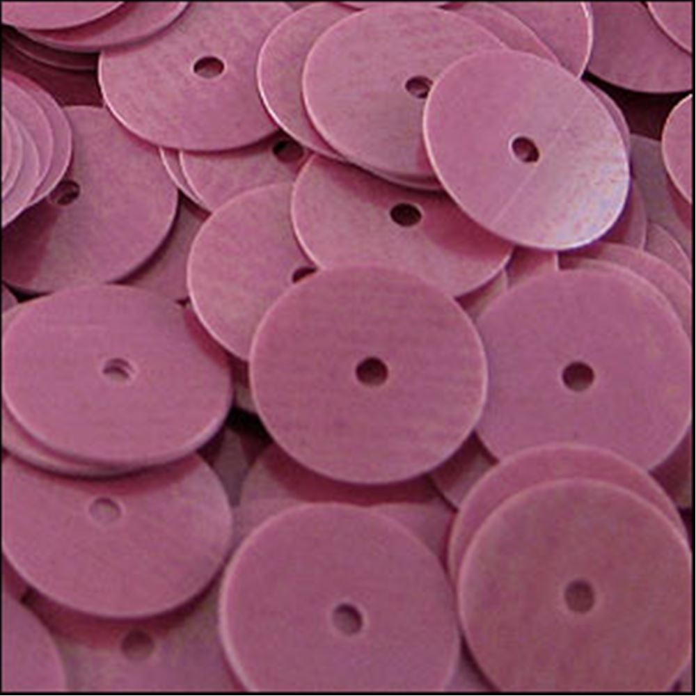 Glossy Bubblegum Pink Flat Sequins. 10mm
