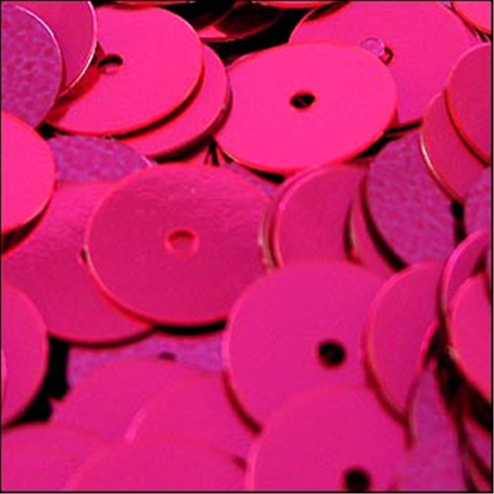 Metallic Shocking Pink Flat Sequins. 10mm