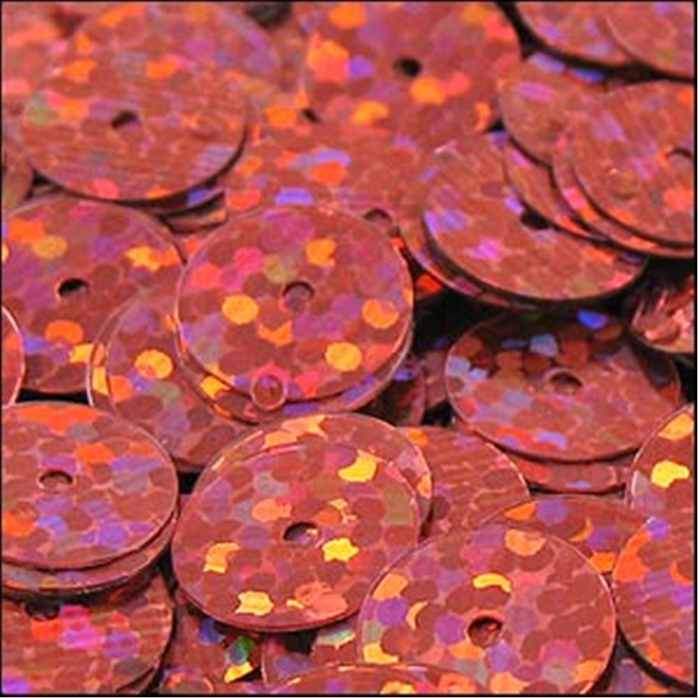 Hologram Pink Flat Sequins. 10mm