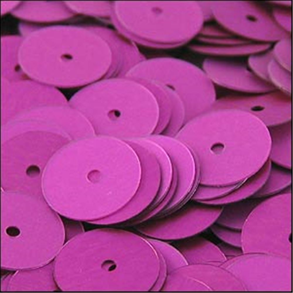 Matte Fuchsia Flat Sequins. 10mm