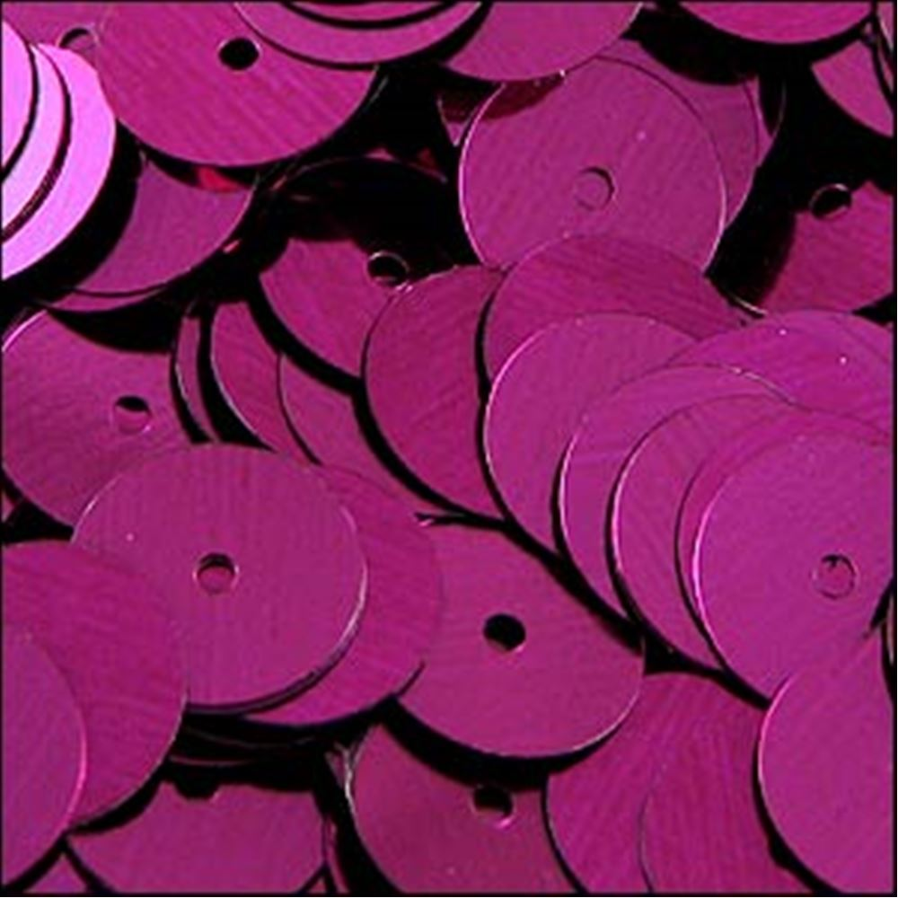 Metallic Fuchsia Flat Sequins. 10mm