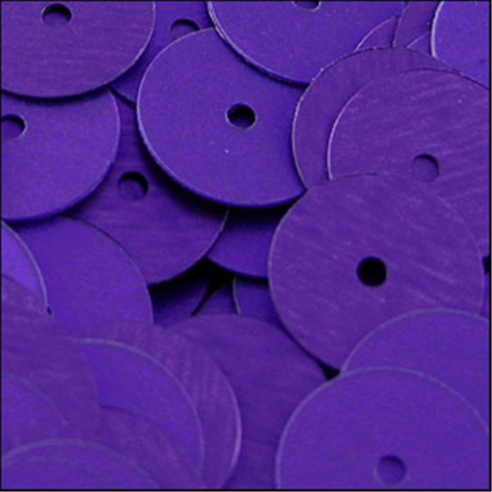 Matte Purple Flat Sequins. 10mm