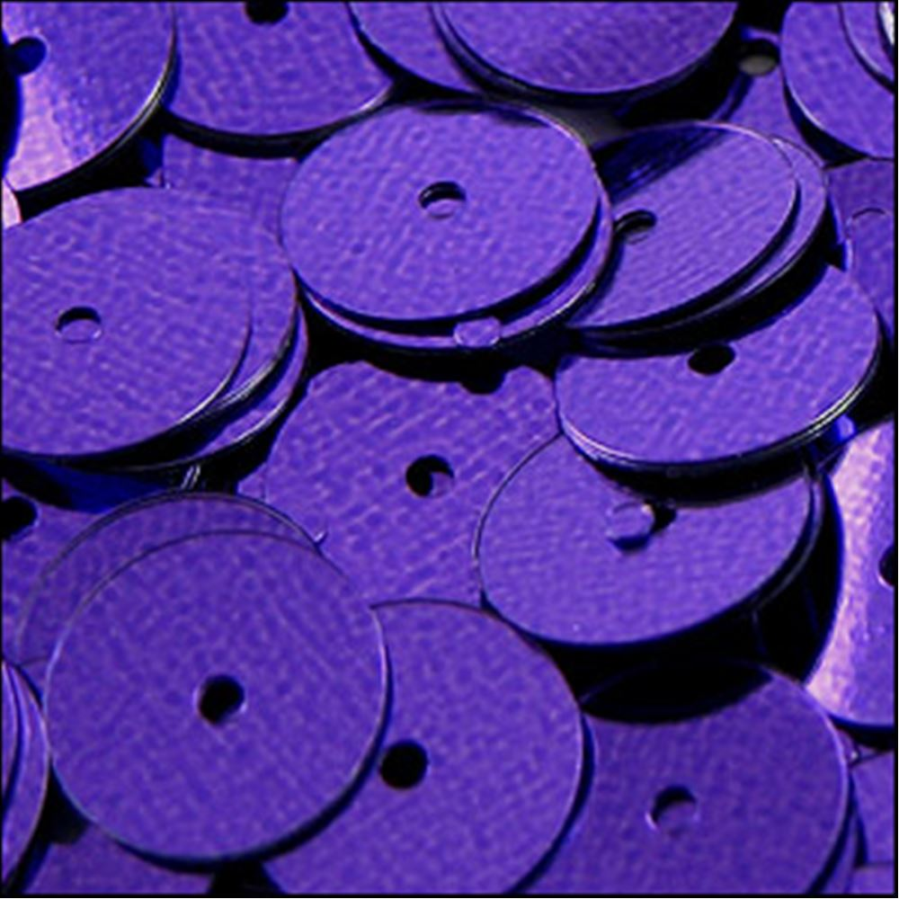 Metallic Royal Purple Flat Sequins. 10mm