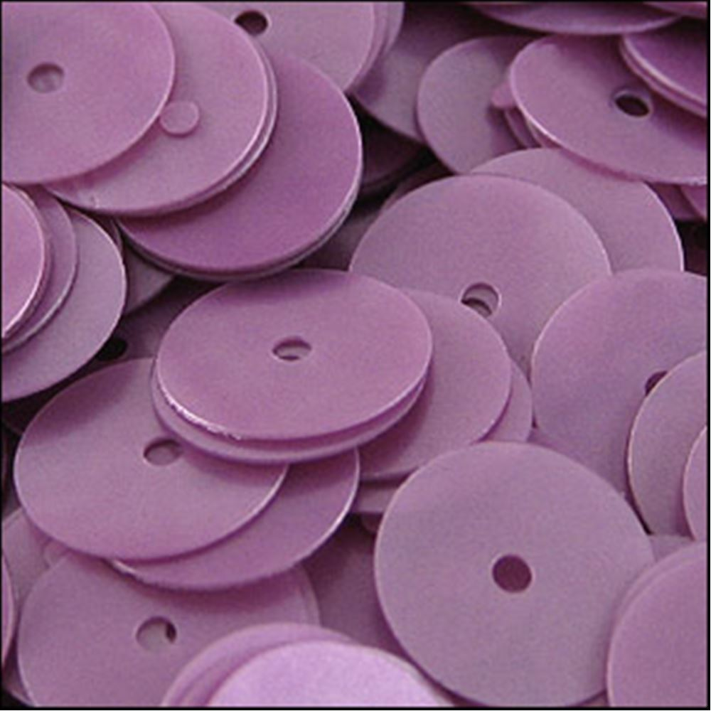 Satin Heather Flat Sequins. 10mm