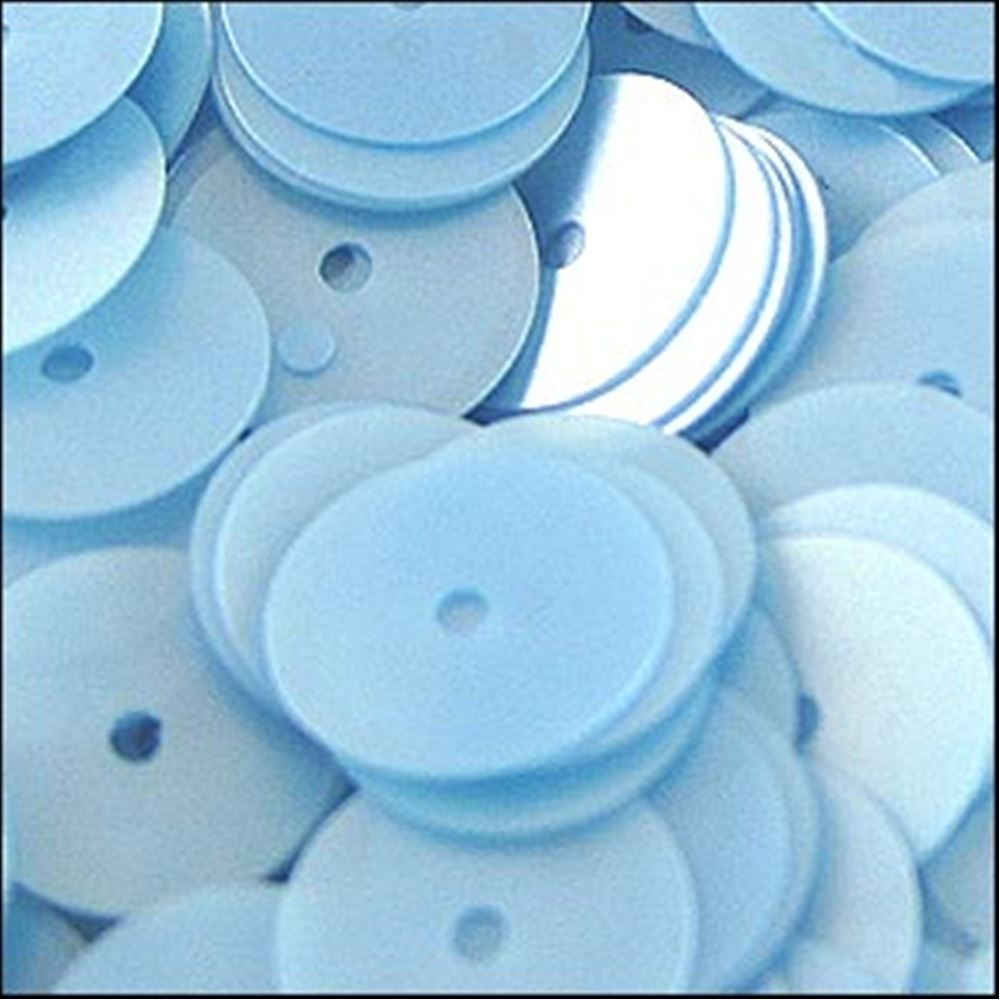Satin Boy Blue Flat Sequins. 10mm